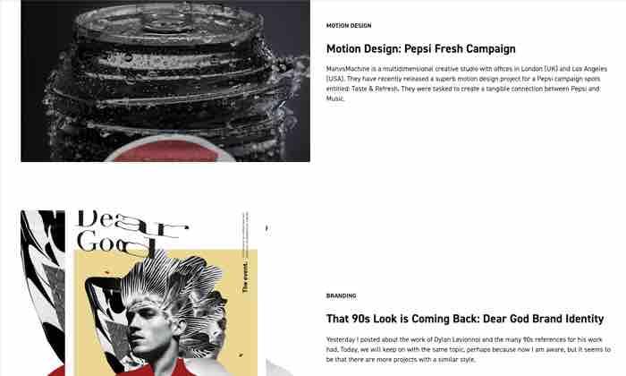 Graphic design inspiration from Abduzeedo