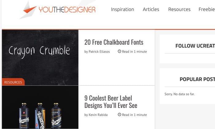 You the Designer inspires creative graphic design.